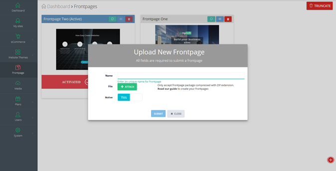 How to upload / edit a frontpage - Step 2
