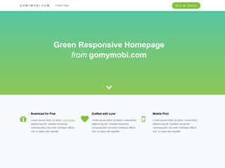 gomymobi.com - Theme: Green Homepage