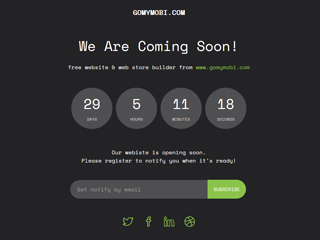 gomymobi.com - Thema: Soon: Site Countdown
